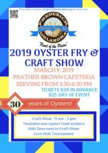 Oyster Fry & Craft Show @ Prather Brown Cafeteria